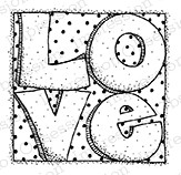 Impression Obsession - Cling Mounted Rubber Stamp - By Lindsay Ostrom - Love Squared