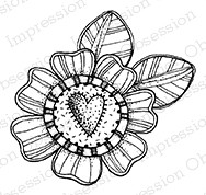 Impression Obsession - Cling Mounted Rubber Stamp - By Lindsay Ostrom - Lovely Flower