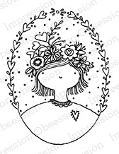 Impression Obsession - Cling Mounted Rubber Stamp - By Lindsay Ostrom - Oval Girlie