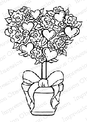 Impression Obsession - Cling Mounted Rubber Stamp - By Tara Caldwell - Heart Topiary
