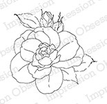 Impression Obsession - Cling Mounted Rubber Stamp - By Alesa Baker - Sweet Floral