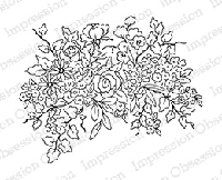 Impression Obsession - Cling Mounted Rubber Stamp - By Alesa Baker - Basket Bouquet