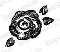 Impression Obsession - Cling Mounted Rubber Stamp - By Alesa Baker - Chalk Rose