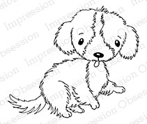 Impression Obsession - Cling Mounted Rubber Stamp - By Gail Green - Cute Dog 2