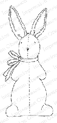 Impression Obsession - Cling Mounted Rubber Stamp - By Alesa Baker - Cuddle Bunny