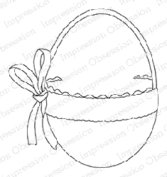 Impression Obsession - Cling Mounted Rubber Stamp - By Alesa Baker - Elegant Egg Basket