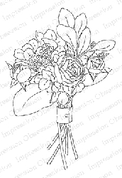 Impression Obsession - Cling Mounted Rubber Stamp - By Alesa Baker - Shabby Chic Bouquet