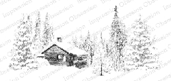 Impression Obsession - Cling Mounted Rubber Stamp - By Gail Green - Winter Scene