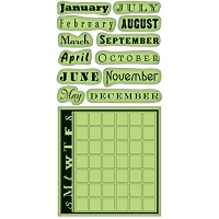 Inkadinkado-Cling Stamps- Month Data Calendar