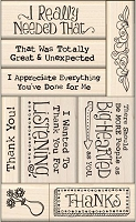 Inkadinkado - Wood Mounted Rubber Stamp Set - Thank You Card Making