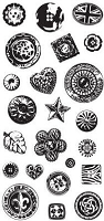 Inkadinkado Clear Stamps - Buttons