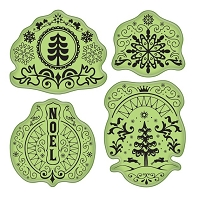 Inkadinkado - Stamping Gear Cling Stamps - Folk Winter