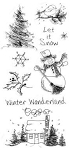 Inkadinkado Clear Stamps - Doodle Winter