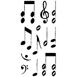 Inkadinkado Clear Stamps - Music Notes