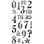 Inkadinkado Clear Stamps - Artistamp Numbers
