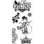 Inkadinkado Clear Stamps - Ornate Christmas