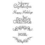 Inkadinkado Clear Stamps - Sketches Scrollwork Christmas