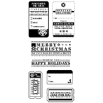 Inkadinkado Clear Stamps - Christmas Tags