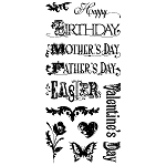 Inkadinkado Clear Stamps - Happy Days