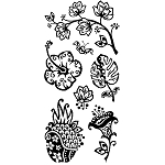 Inkadinkado Clear Stamps - Flashy Floral