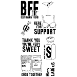 Inkadinkado Clear Stamps - Friendship