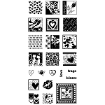 Inkadinkado Clear Stamps - Inchies Heart Full of Love