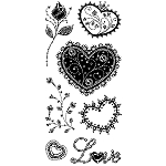 Inkadinkado Clear Stamps - Gemstone Hearts