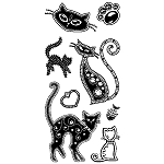 Inkadinkado Clear Stamps - Gemstone Cats