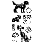 Inkadinkado Clear Stamps - Gemstone Dogs
