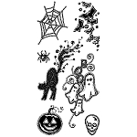 Inkadinkado Clear Stamps - Gemstone Halloween