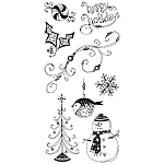 Inkadinkado Clear Stamps - Pattern Play Holiday