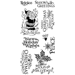 Inkadinkado Clear Stamps - Holiday Expression