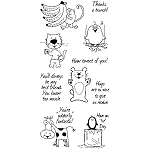 Inkadinkado Clear Stamps - Friendly Characters
