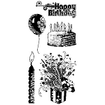 Inkadinkado Clear Stamps - Birthday Sentiments