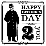 Inkadinkado Clear Stamps - Happy Father's Day