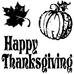 Inkadinkado Clear Stamps - Happy Thanksgiving