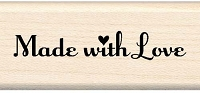 Inkadinkado - Wood Mounted Stamp - Made with Love