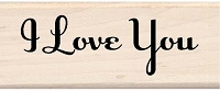 Inkadinkado - Wood Mounted Stamp - I Love You