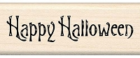 Inkadinkado - Wood Mounted Stamp - Happy Halloween