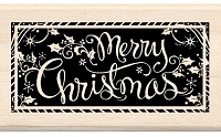 Inkadinkado - Wood Mounted Stamp - Merry Christmas Frame