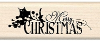 Inkadinkado - Wood Mounted Stamp - Ornate Merry Christmas