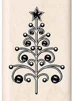 Inkadinkado - Wood Mounted Stamp - Christmas Tree