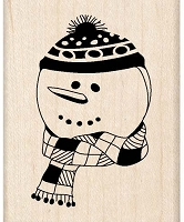 Inkadinkado - Wood Mounted Stamp - Snowman