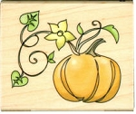 Inkadinkado-Wood Mounted Stamp-Pumpkin
