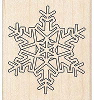 Inkadinkado - Wood Mounted Stamp - Snow Flake