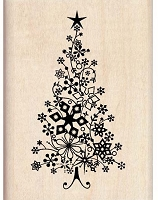 Inkadinkado - Wood Mounted Stamp - Snow Tree