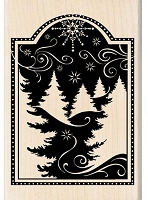 Inkadinkado - Wood Mounted Stamp - Festive Winter