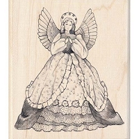 Inkadinkado - Wood Mounted Stamp - Angel