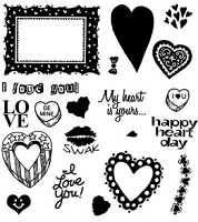 Inque Boutique - See D's  Unmounted Rubber Stamp Set  - My Heart is Yours