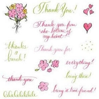 Inque Boutique - See D's  Unmounted Rubber Stamp Set  - Thank You
